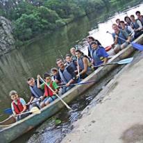 A l'aventure avec les grand canoë d'Apach'Bihan