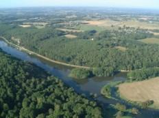 Vue aérienne du site de l'Ile aux Pies